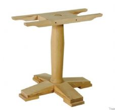 Tempo Wooden Large Single Dining Table Base